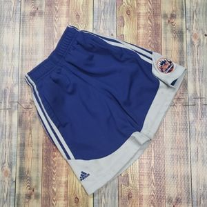 ADIDAS YOUTH SHORTS SIZE 7.  N.Y METS LOGO